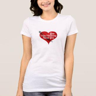 Yes-I morgens, das an Sie-Valentinsgrüße oder T-Shirt
