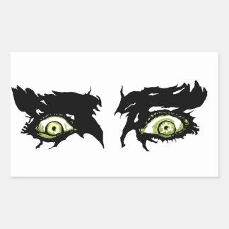 YEUX de ZOMBI - yeux espiègles effrayants Sticker Rectangulaire