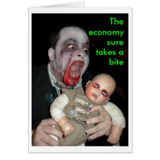 YIKES, die Wirtschaft nimmt sure einen Biss Karte