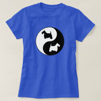 Yin u. Yang Schwarzweiss-Scotties T-Shirt