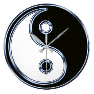 Yin und Yang 2 Große Wanduhr