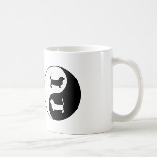 Yin und Yang Basset Hound Kaffeetasse