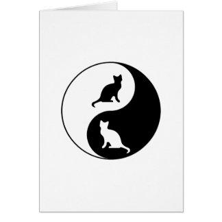 Yin und Yang-Katze Karte