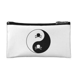 Yin und Yang-Schädel Kosmetiktasche