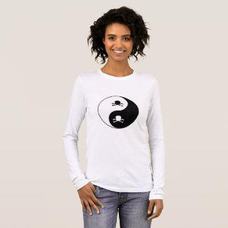 Yin und Yang-Schädel Langarm T-Shirt