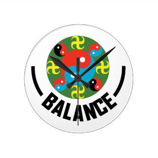 Yin Yang Balance Runde Wanduhr