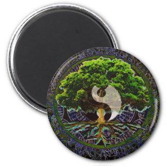 Yin Yang Baum des Lebens Runder Magnet 5,7 Cm