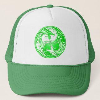 Yin Yang Drachen, grün Truckerkappe