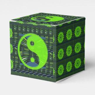 Yin Yang Editable DIY 2x2 Bevorzugungs-Kasten des Geschenkschachtel