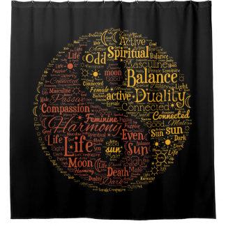 Yin Yang geistige Farbwort-Kunst Duschvorhang