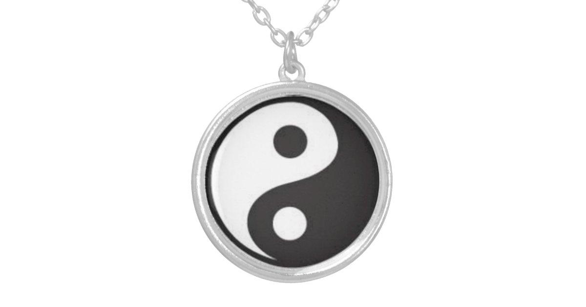 yin yang halsketten talisman versilberte kette. Black Bedroom Furniture Sets. Home Design Ideas