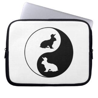 Yin Yang Kaninchen Laptopschutzhülle