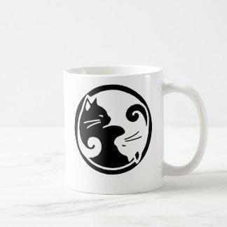 Yin Yang Katzen Kaffeetasse