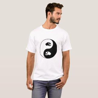 Yin Yang Katzen-Schädel T-Shirt