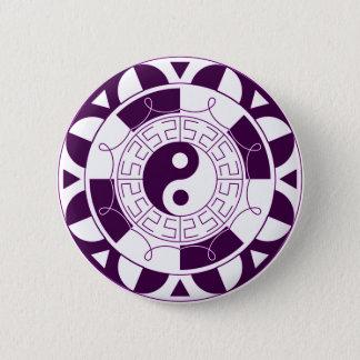 Yin Yang Mandala Runder Button 5,7 Cm