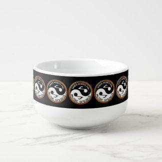 Yin Yang mit Musikwörtern Große Suppentasse