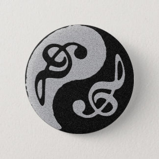 yin Yang-Musik clave Anmerkung Runder Button 5,1 Cm