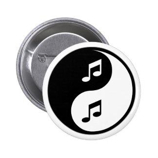 Yin Yang Musik Runder Button 5,1 Cm
