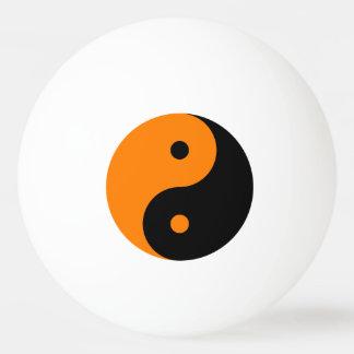 Yin Yang - orange Schwarzes Tischtennis Ball