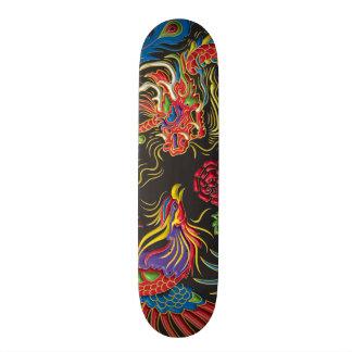 Yin Yang Phoenix und Drache-Skateboard-Plattform Personalisierte Skateboarddecks