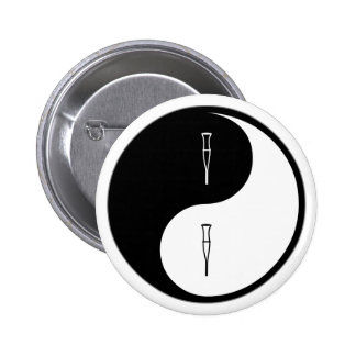 Yin Yang Rehabilitation Runder Button 5,7 Cm