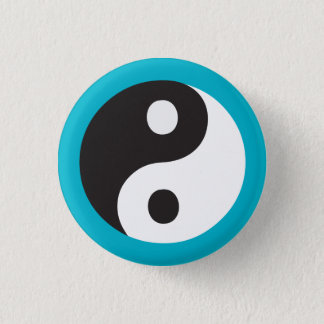 Yin Yang Runder Button 2,5 Cm