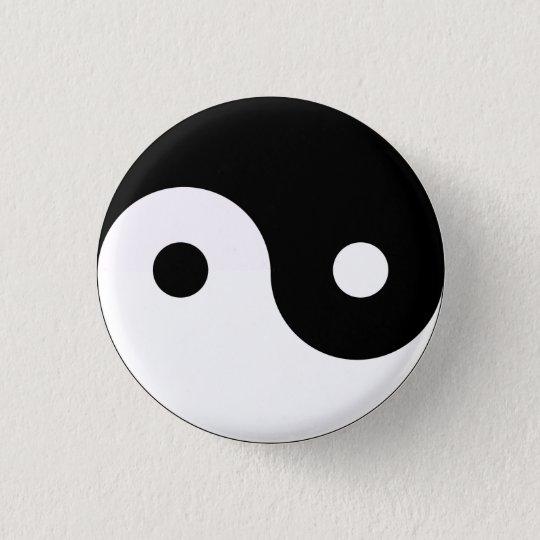 Yin Yang Runder Button 3,2 Cm