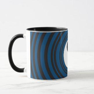 Yin Yang Symbol-blaue konzentrische Tasse