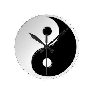Yin Yang Symbol-runde Wanduhr