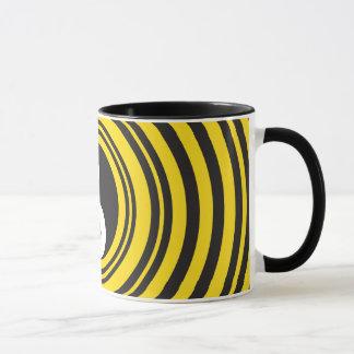 Yin Yang Taijitu Symbol Gelb-Schwarz-Kräuselungen Tasse