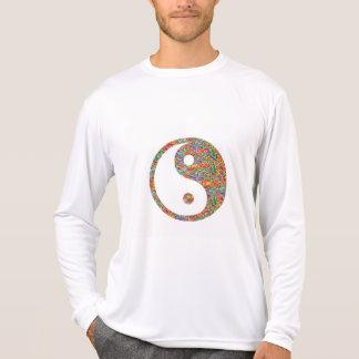 Yin Yang und kanadische Goldminen-Juwel-Kunst T-Shirt
