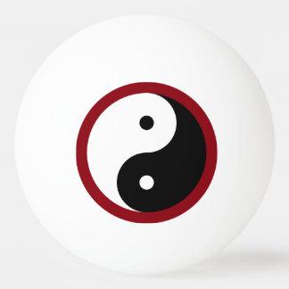 Yin Yang - weißes Schwarzes Tischtennis Ball
