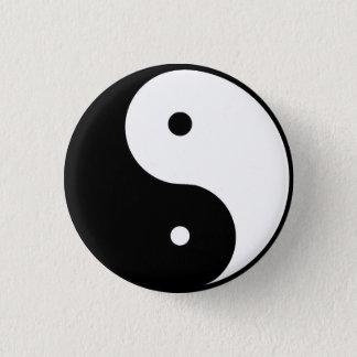 Ying u. Yang Runder Button 3,2 Cm
