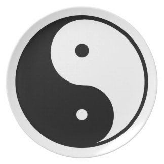 Ying und Yang-Platte Melaminteller