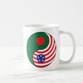 Ying Yang Bangladesch Amerika Kaffeetasse