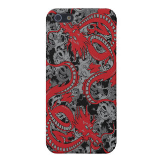 Ying Yang Drache oin Rot - Chinesisches iPhone 5 Cover