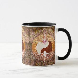 Ying Yang Herz-Baum des Lebens Tasse