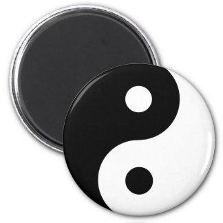 Ying Yang Runder Magnet 5,7 Cm