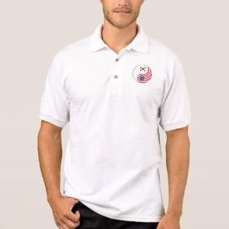 Ying Yang Südkorea Amerika Polo Shirt