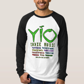YIO Indie Musik Hashtags lange dunkle Hülsen T-Shirt