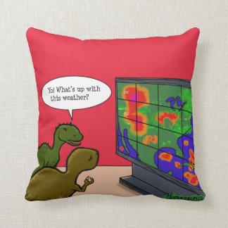 Yo! Was oben mit diesem Wetter-Dinosaurier-Cartoon Kissen
