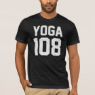 YOGA 108 - white print T-Shirt
