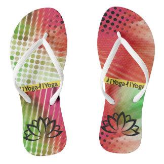 Yoga | abstraktes | bunt flip flops