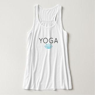 Yoga-blauer einfacher Lotus-Behälter Tank Top
