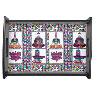 Yoga Buddhas Lotus ShivaLinga Shiva Linga Chakra Serviertablett