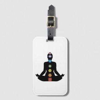 Yoga Chakras Fitness-Übung Gepäckanhänger