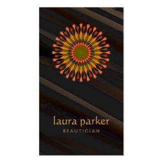 Yoga curatif de thérapie de logo de fleur de Lotus Carte De Visite Standard