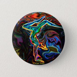 Yoga dieser Knopf Runder Button 5,7 Cm
