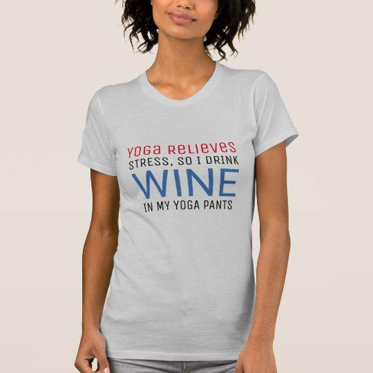 Yoga entlastet lustiges wunderliches des Druck T-Shirt