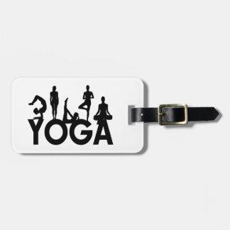 Yoga-Frauen-Silhouetten Kofferanhänger